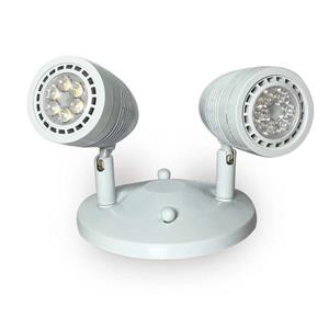 SmartRay LED Emergency Light - 2 Heads - White