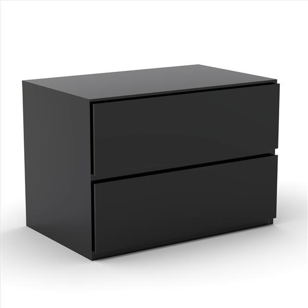 Nexera Epik Contemporary Full Bedroom Set -  3 Pieces - Black