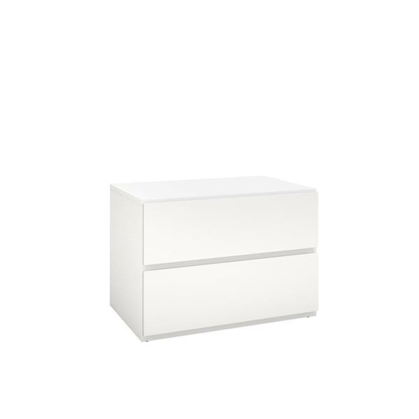 Nexera Bali Contemporary Queen Bedroom Set - 3 Pieces - Maple/White