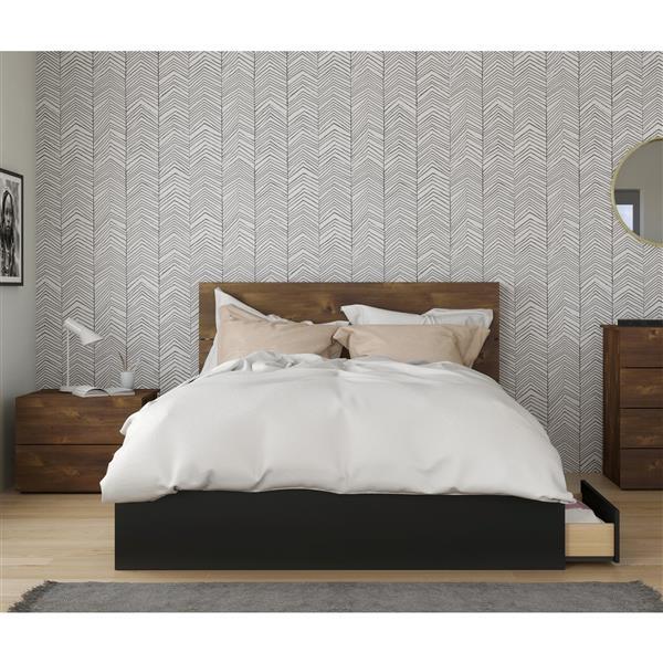 Nexera Bogota Queen Bedroom Set - 3 Pieces - Truffle