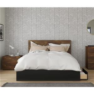 Ens. chambre à coucher grand lit «Bogota», 3 mcx, truffe