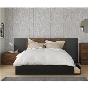 Nexera Bogota Queen Bedroom Set - 4 Pieces - Truffle