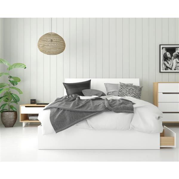 Nexera Radiance Queen Bedroom Set - 3 Pieces - Maple/White
