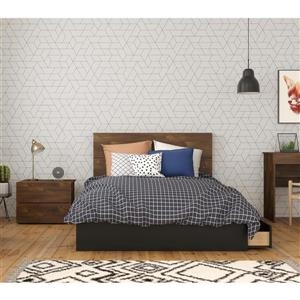 Nexera Bogota Full Bedroom Set - 3 Pieces - Truffle/Black