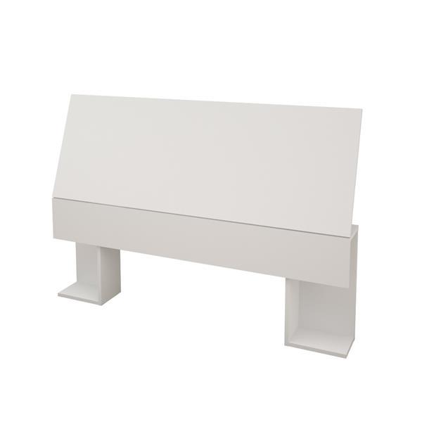 Nexera Sahara Full Bedroom Set - 3 Pieces - White/Walnut