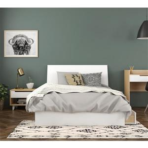 Ens. chambre à coucher double «Radiance»,3 mcx, érable/blanc