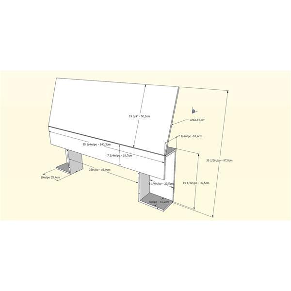 Nexera Contemporary Full Bedroom Set - 2 Pieces - White