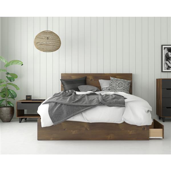 Nexera Oscuro Queen Bedroom Set - 3 Pieces - Truffle