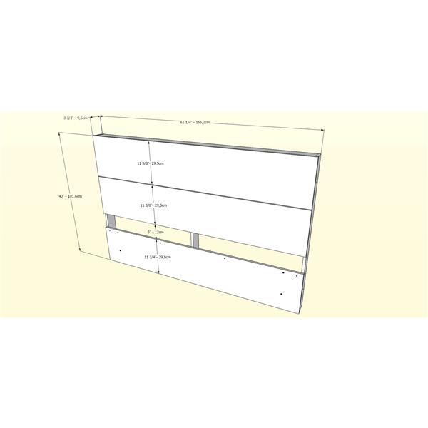 Nexera Rubicon Contemporary Queen Bedroom Set - 3 Pieces - Truffle