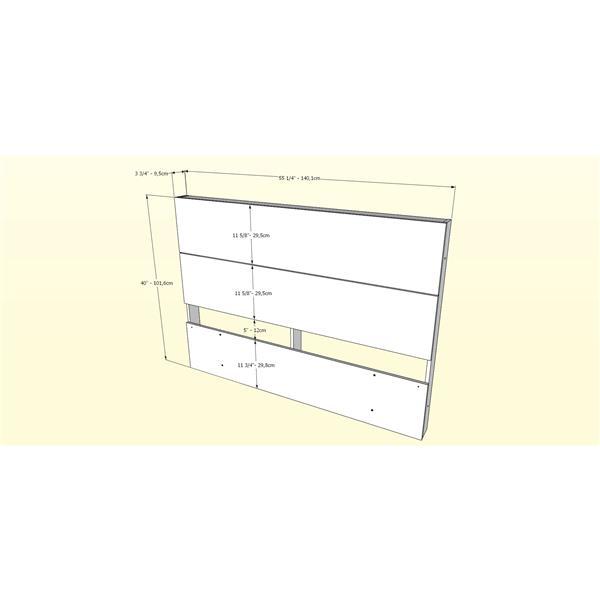 Nexera Contemporary Full Bedroom Set - 2 Pieces - Truffle