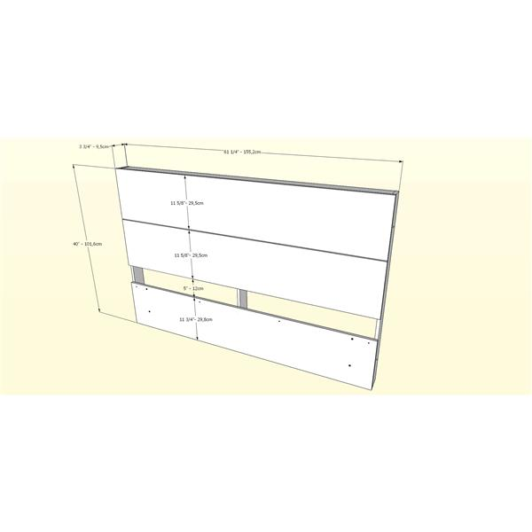 Nexera Contemporary Queen Bedroom Set - 2 Pieces - Truffle