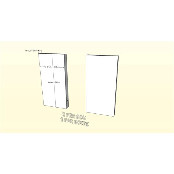 Nexera Hera Contemproary Full Bedroom Set - 4 Pieces - Walnut/White
