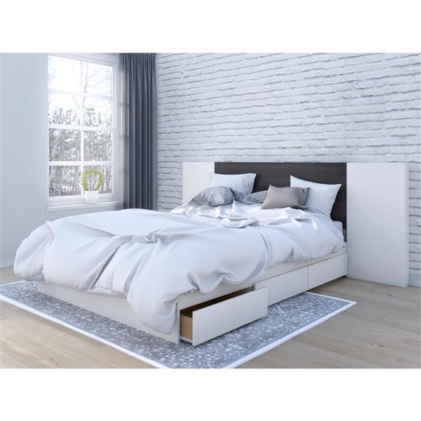 Nexera Queen Bedroom Set - 3 Pieces - Ebony