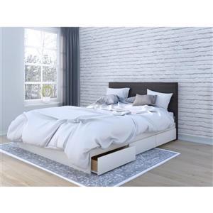 Ens. chambre à coucher grand lit Nexera(MD), 2 mcx, ébène