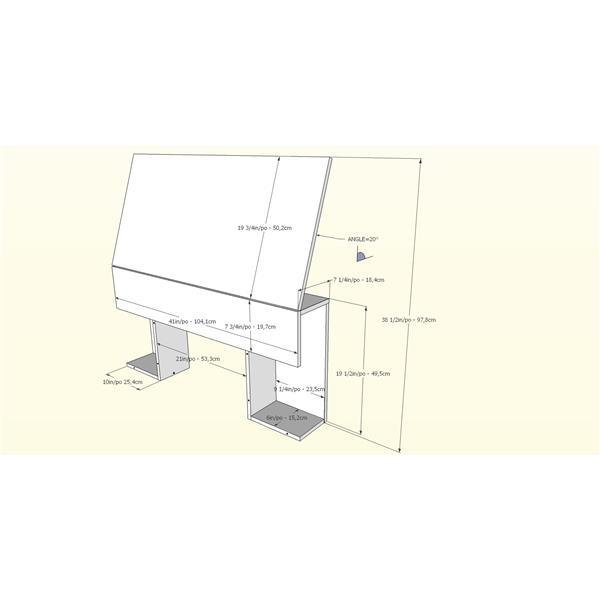 Nexera Contemporary Twin Bedroom Set -  2 Pieces - Black
