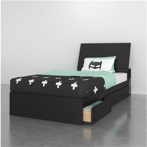 Ens. de chambre à coucher simple Nexera(MD), 2 mcx, noir