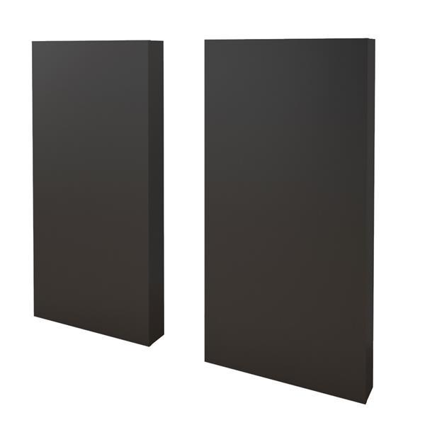 Nexera Twin Bedroom Set - 3 Pieces - Truffle/Black