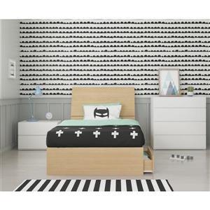 Ens. chambre à coucher simple Nexera(MD), 4 mcx, érable