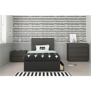 Ens. chambre à coucher simple «Evoque», 4 mcx, ébène/noir