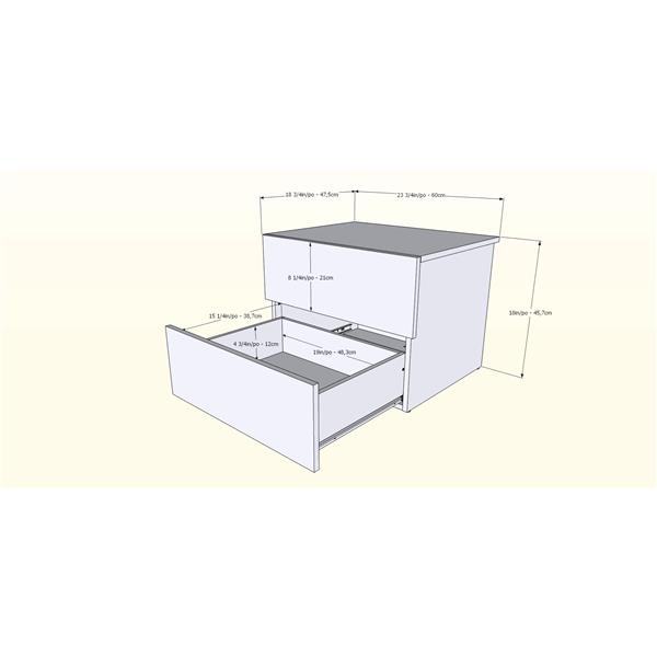 Nexera Bogota Twin Bedroom Set - 4 Pieces - Truffle/Black