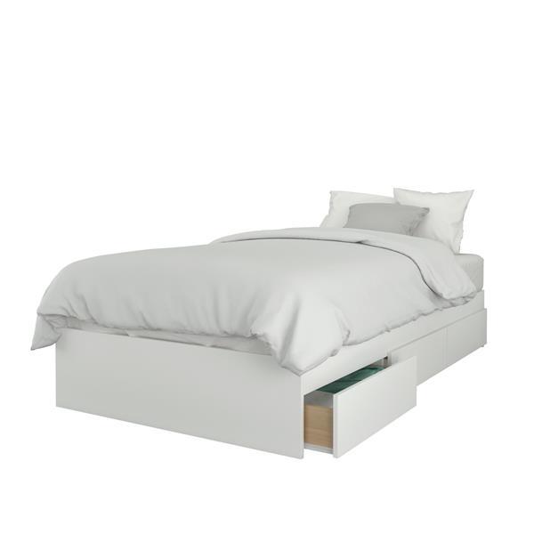 Nexera Contemporary Twin Bedroom Set - 2 Pieces - White