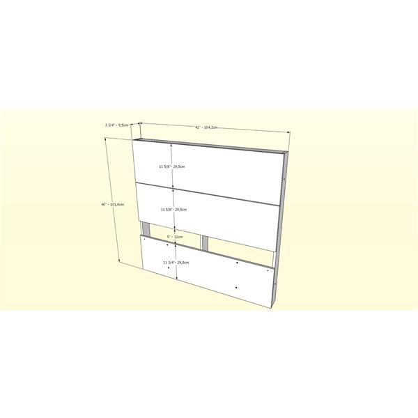 Nexera Twin Bedroom Set - 2 Pieces - White/Ebony