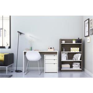 Nexera Chrono Contemporary Home Office Set - 3 Pieces - Grey/White