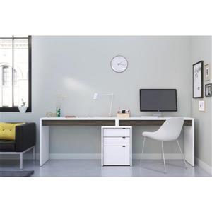 Ensemble de bureau contemproain «Chrono», 3 mcx, gris/blanc
