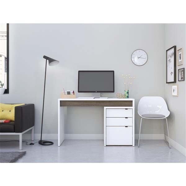 Nexera® Contemporary Reversible Desk Panel - Grey/White