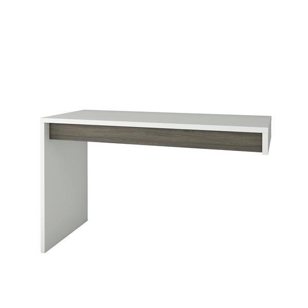 Bureau réversible contemporain Nexera(MD), gris/blanc
