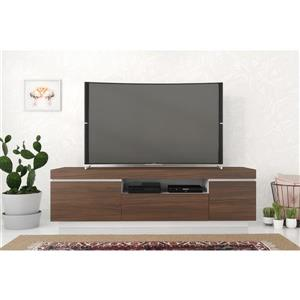 Nexera Cali TV Stand - 68-in - Walnut/White