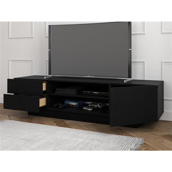 Nexera Galleri TV Stand - 72-in - Wood - Black