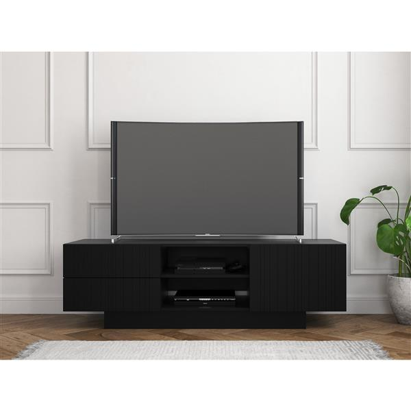 Nexera Galleri TV Stand - 60-in - Wood - Black