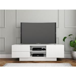 Nexera Marble TV Stand - 60-in - Wood - White