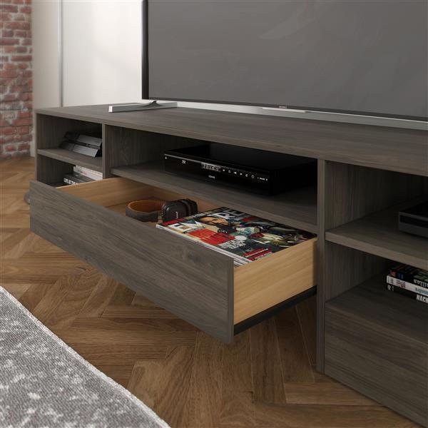 Nexera Rustik TV Stand - 72-in - 1-Drawer - Wood - Bark Grey
