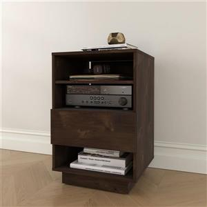 Nexera Stereo Audio Tower - 1-Drawer - Wood - Truffle