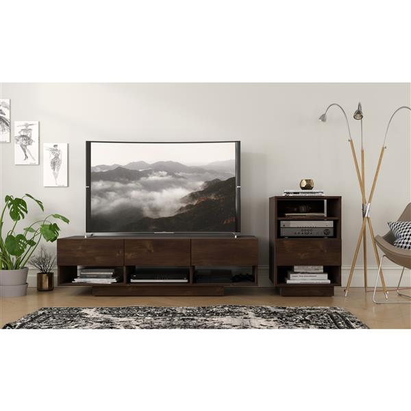 Nexera Stereo TV Stand - 60-in - Wood - Truffle