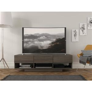 Nexera Rustik TV Stand -60-in - Wood - Bark Grey