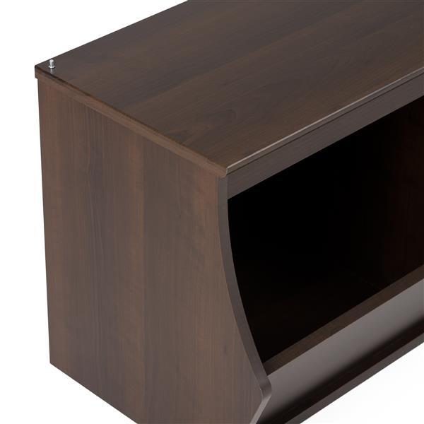 Prepac Fremont Stacked 6-Bin Organizer Cubbie. Espresso 46-in W x 36-in H