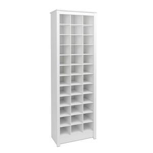 Prepac 36 pair Shoe Storage Rack - White - 23.5-in Lx 72.5-in H