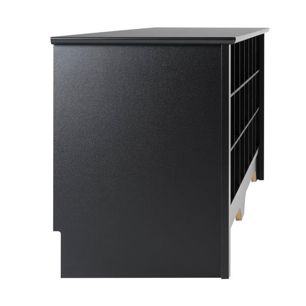 Prepac Shoe Storage Cubby Bench - 24 pair - Black - 60-in