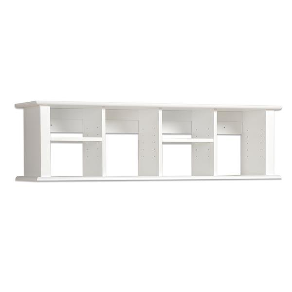 Prepac Wall Mounted Desk Hutch - White - 48-in x 13-in