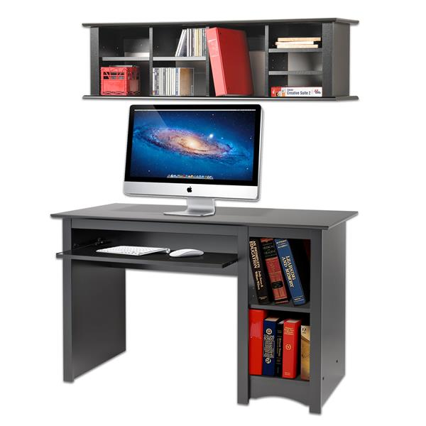 Prepac Wall Mounted Desk Hutch, Black