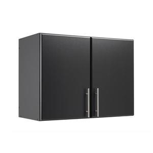 Prepac Elite Stackable Wall Cabinet 2-Door - Black - 32-in W x 24-in H x 16-in D