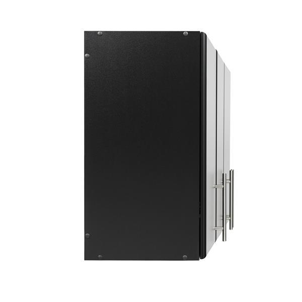 Prepac Elite Wall Cabinet - 3-door - Black - 54-in W x 24-in H x 12-in D