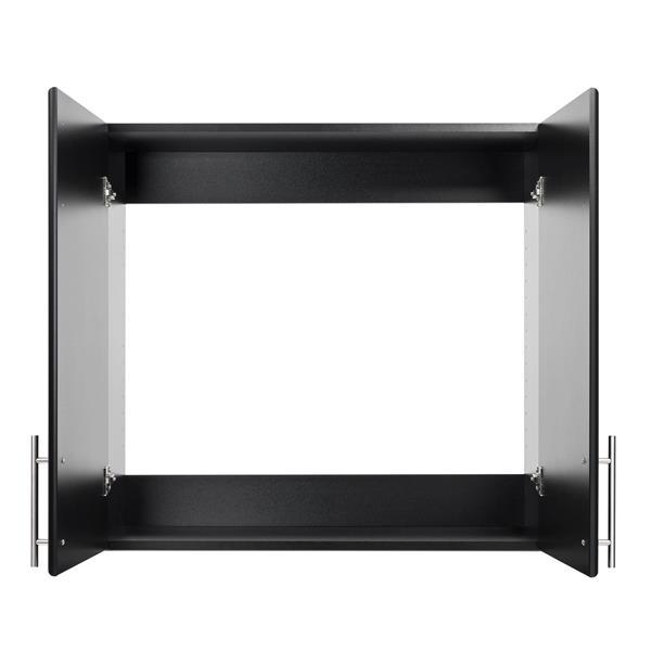 Prepac Elite Wall Cabinet - 2-Door - Black - 32-in W x 30-in H x 12-in D