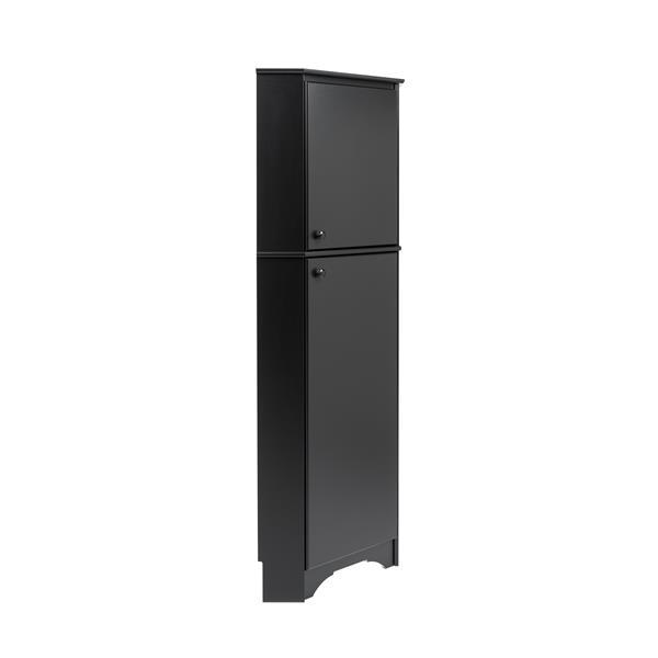 Prepac Corner Storage Cabinet in Elite White