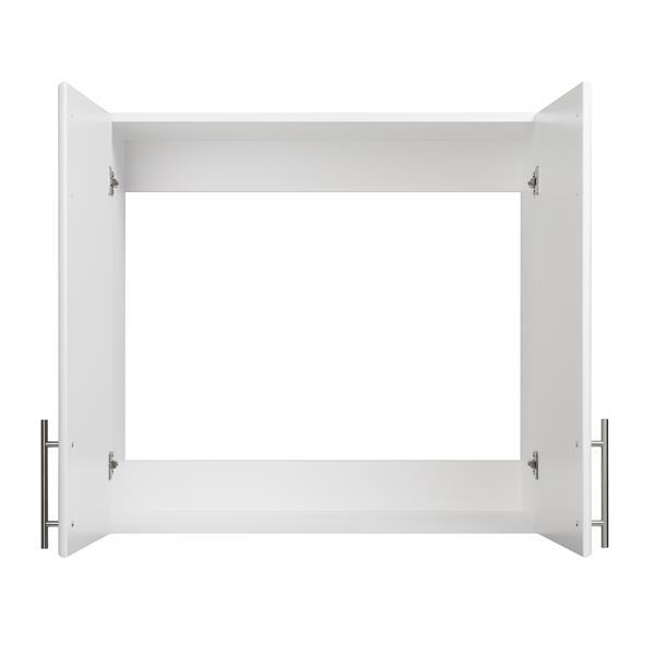 Prepac Elite Wall Cabinet - 2-Door - White - 32-in W x 30-in H x 12-in D