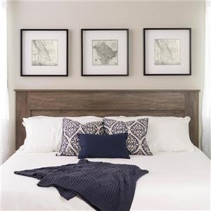 Prepac King Flat Panel Headboard - Drifted Gray