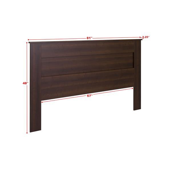 Prepac King Flat Panel Headboard - Espresso